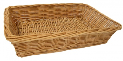 Steamed Wicker Basket /Tray - 41x30x8cm