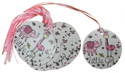 Pack 10 Gift Tags with Ribbon Ties - LITTLE GIRL