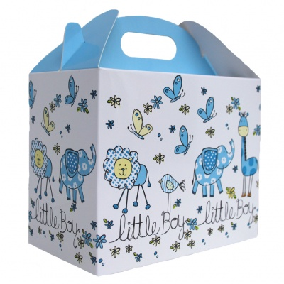 Pack of 10 GABLE BOXES 17x10x14cm - LITTLE BOY