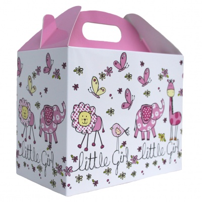 Pack of 10 GABLE BOXES 17x10x14cm - LITTLE GIRL
