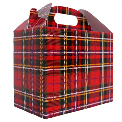 Pack of 10 GABLE BOXES 17x10x14cm - TARTAN