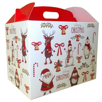 Gable Box - 24x18x16 (pk 10 Large) - CHRISTMAS CHARACTERS