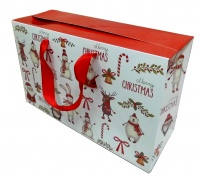 FLAT TOP GIFT BAG (single) - medium CHRISTMAS CHARACTERS
