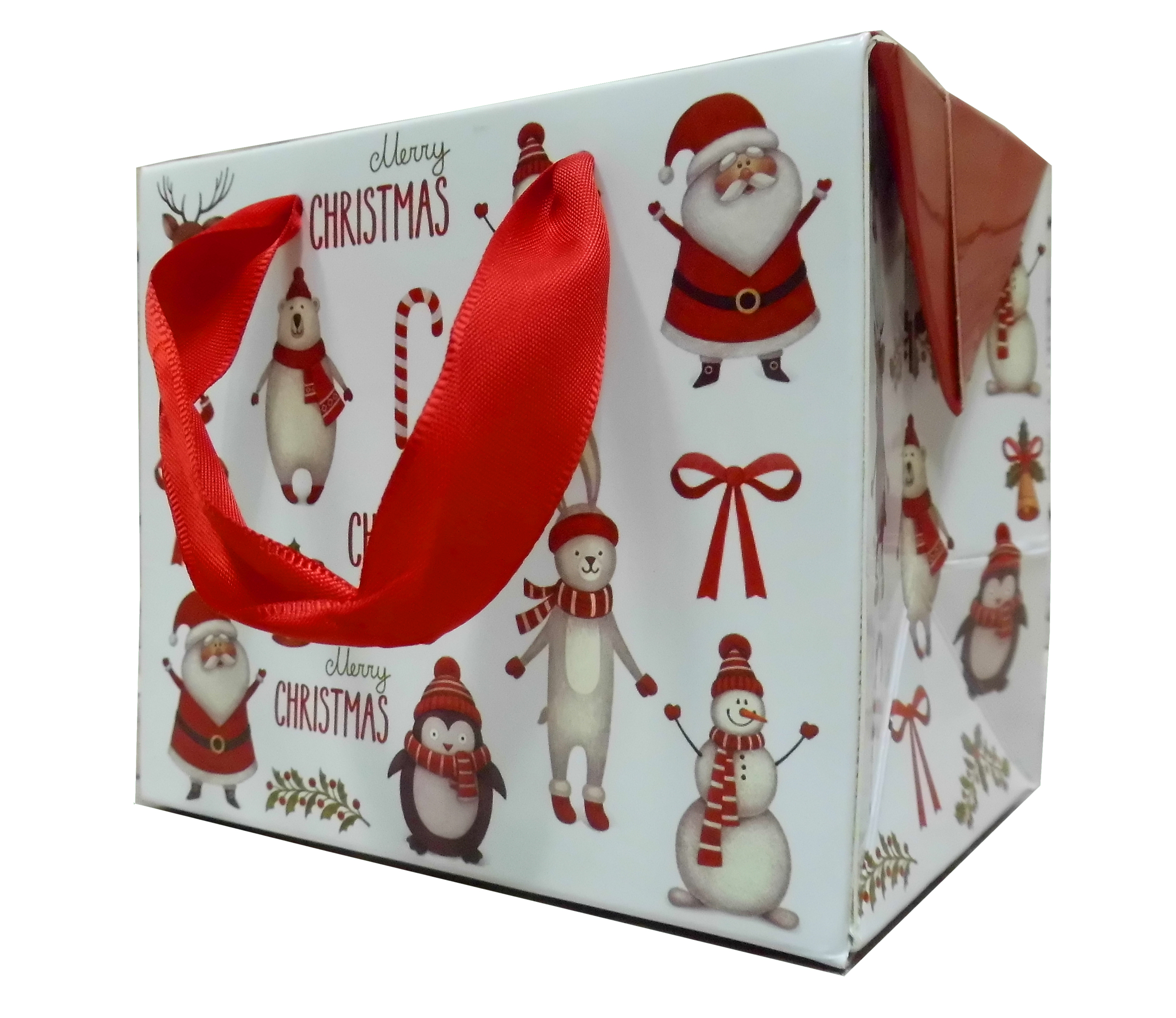 FLAT TOP GIFT BAG (single) - small CHRISTMAS CHARACTERS