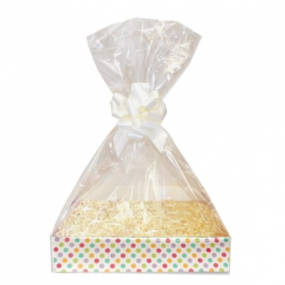 Complete Gift Basket Kit - (Medium) SPOTTY EASY FOLD TRAY / CREAM ACCESSORIES