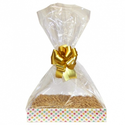 Complete Gift Basket Kit - (Medium) SPOTTY EASY FOLD TRAY / GOLD ACCESSORIES