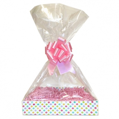 Complete Gift Basket Kit - (Medium) SPOTTY EASY FOLD TRAY / PINK ACCESSORIES
