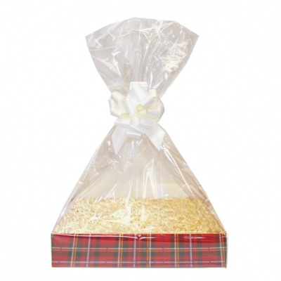 Complete Gift Basket Kit - (Small) TARTAN EASY FOLD TRAY/CREAM ACCESSORIES
