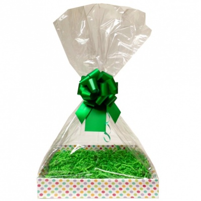 Complete Gift Basket Kit - (Small) SPOTTY EASY FOLD TRAY/GREEN ACCESSORIES