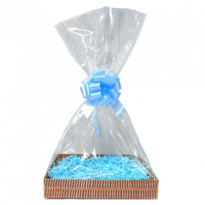 Complete Gift Basket Kit - (Small) WICKER EASY FOLD TRAY/BLUE ACCESSORIES