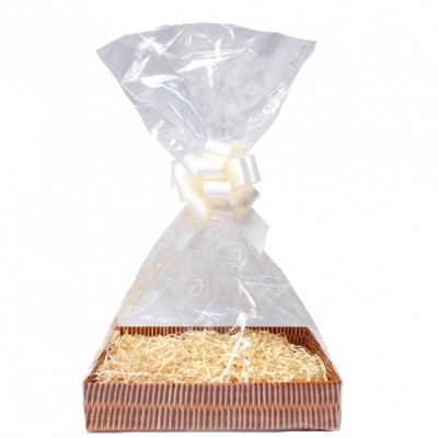 Complete Gift Basket Kit - (Small) WICKER EASY FOLD TRAY/CREAM ACCESSORIES