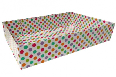 Easy Fold Gift Tray (30x20x6cm) - Medium SPOTS