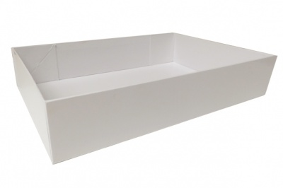 Easy Fold Gift Tray (30x20x6cm) - Medium WHITE