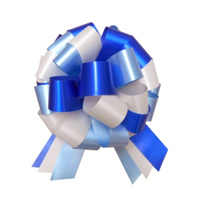 Multi-Colour Bow with 6m matching ribbon - BLUE/CREAM/NAVY
