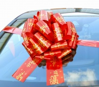 MEGA Giant Car Bow (42cm diameter) with 6m Ribbon - MERRY CHRISTMAS