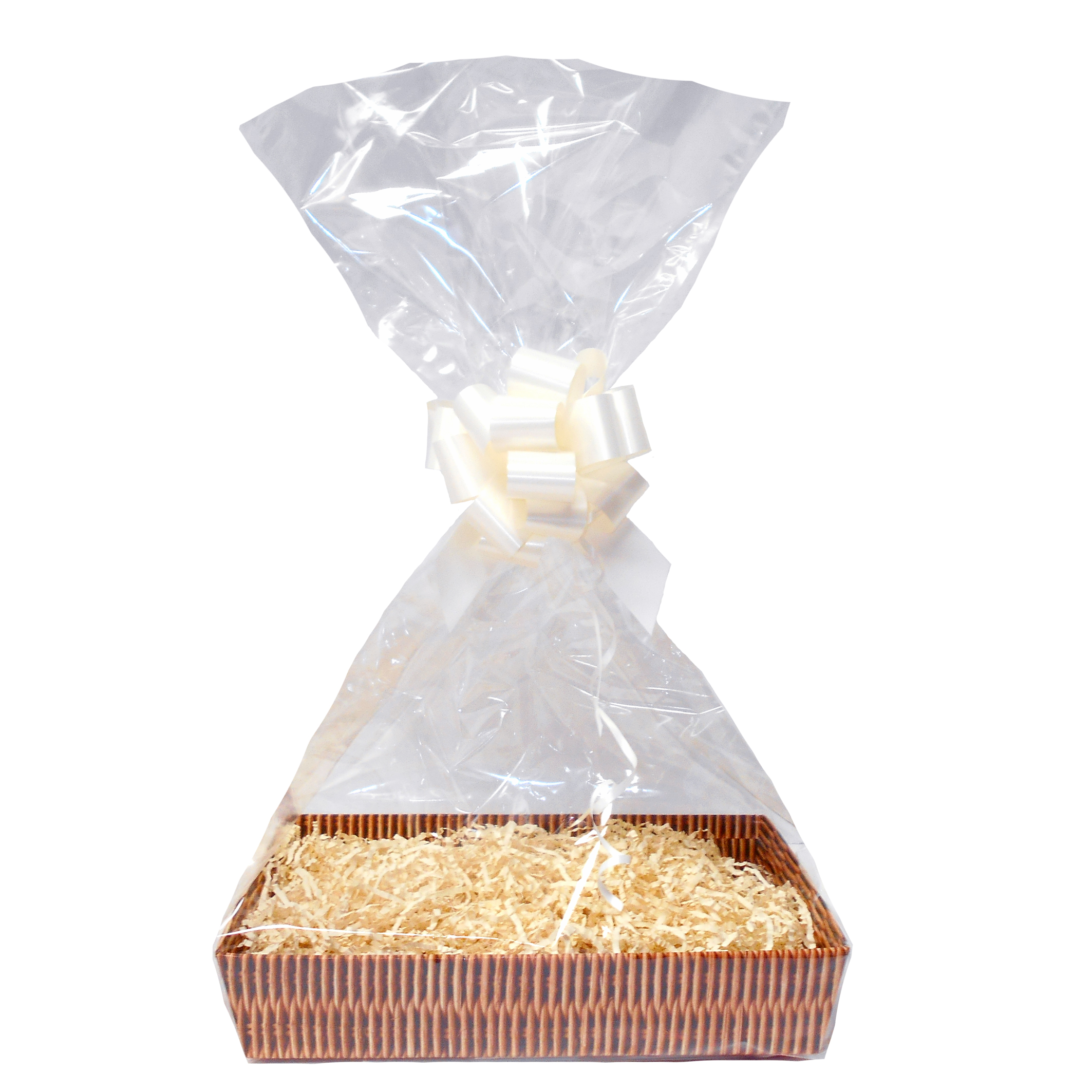 Complete Gift Basket Kit - (Large) WICKER TRAY / CREAM ACCESSORIES