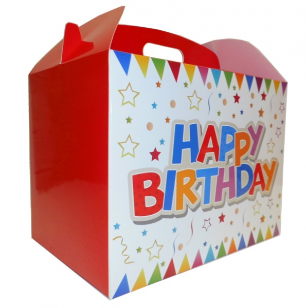 Gable Box - 24x18x16 (pk 10 Large) - HAPPY BIRTHDAY