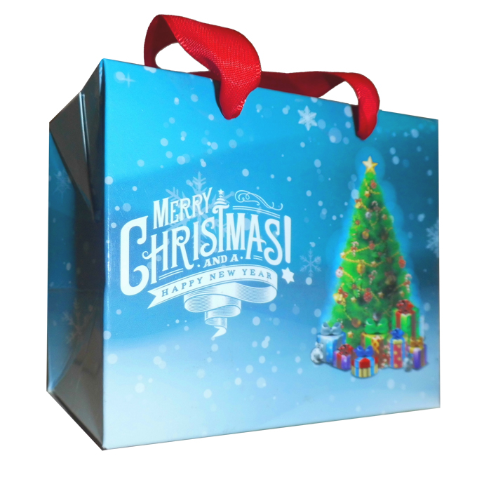 FLAT TOP GIFT BAGS (pack of 10) - small CHRISTMAS TREES