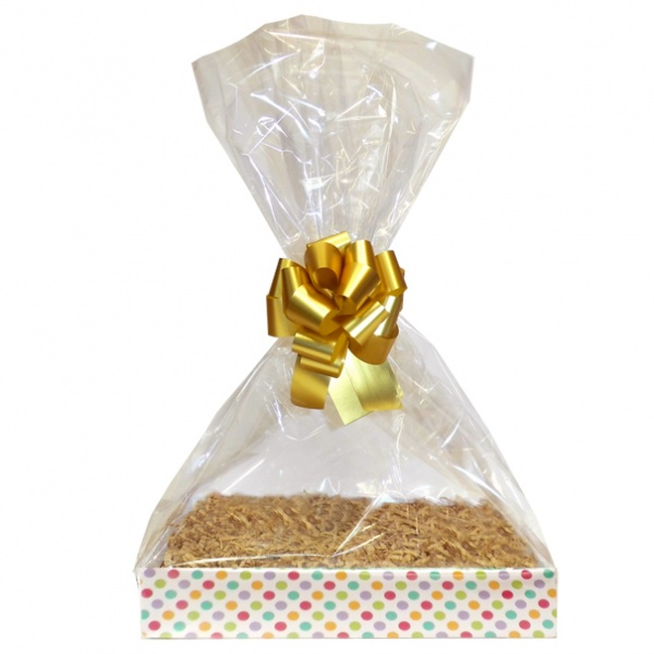 Complete Gift Basket Kit - (Large) SPOTTY EASY FOLD TRAY / GOLD ACCESSORIES