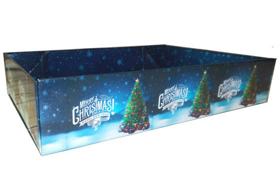 Easy Fold Gift Tray (35x24x8cm) - Large CHRISTMAS TREE