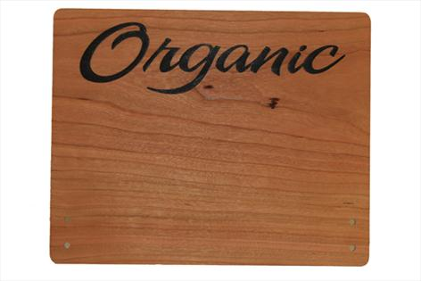 Large Cherry Wood Point of Sale Sign 250mm x 200mm - ORGANIC