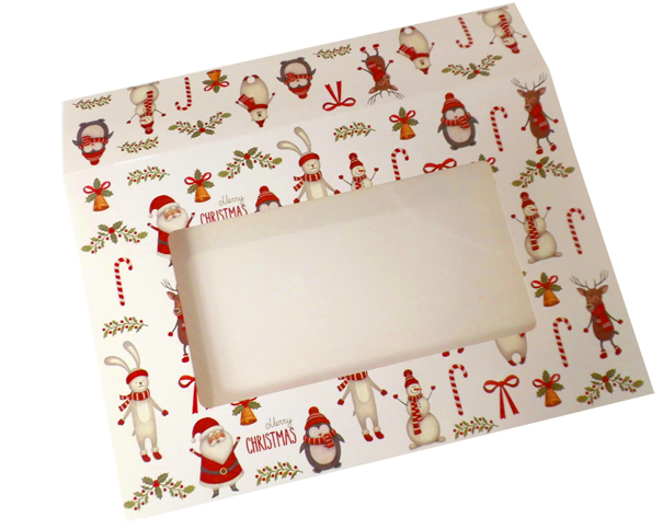 Sleeve with Window - 35x24x8cm (pk 10 Large) - CHRISTMAS CHARACTERS