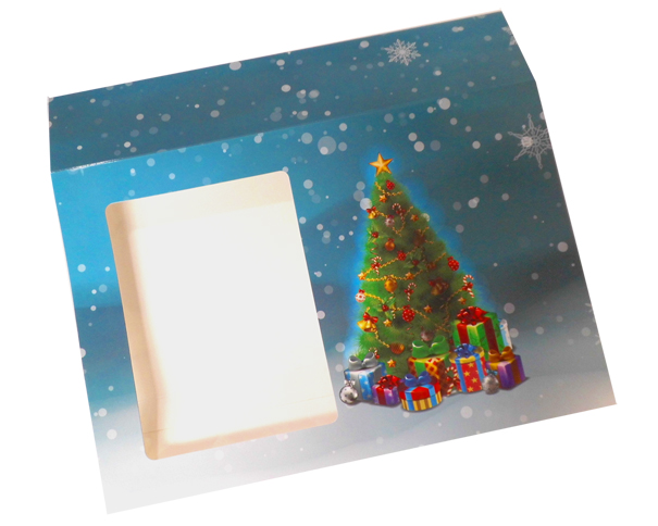 Sleeve with Window - 35x24x8cm (pk 10 Large) - CHRISTMAS TREE