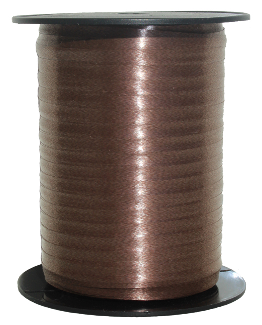 Curling Ribbon 5mm x 500m - CHOCOLATE BROWN