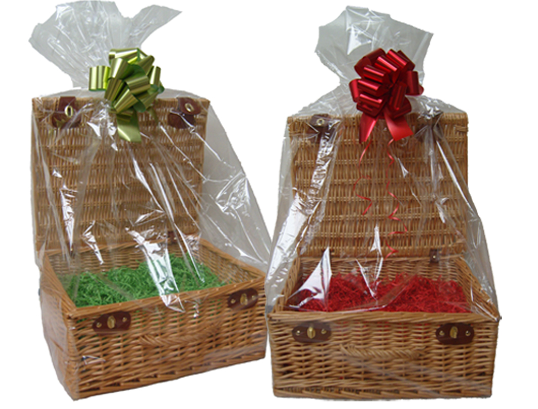 Cellophane Hamper Bag (pk 10) - 31x27x80cm high - SMALL